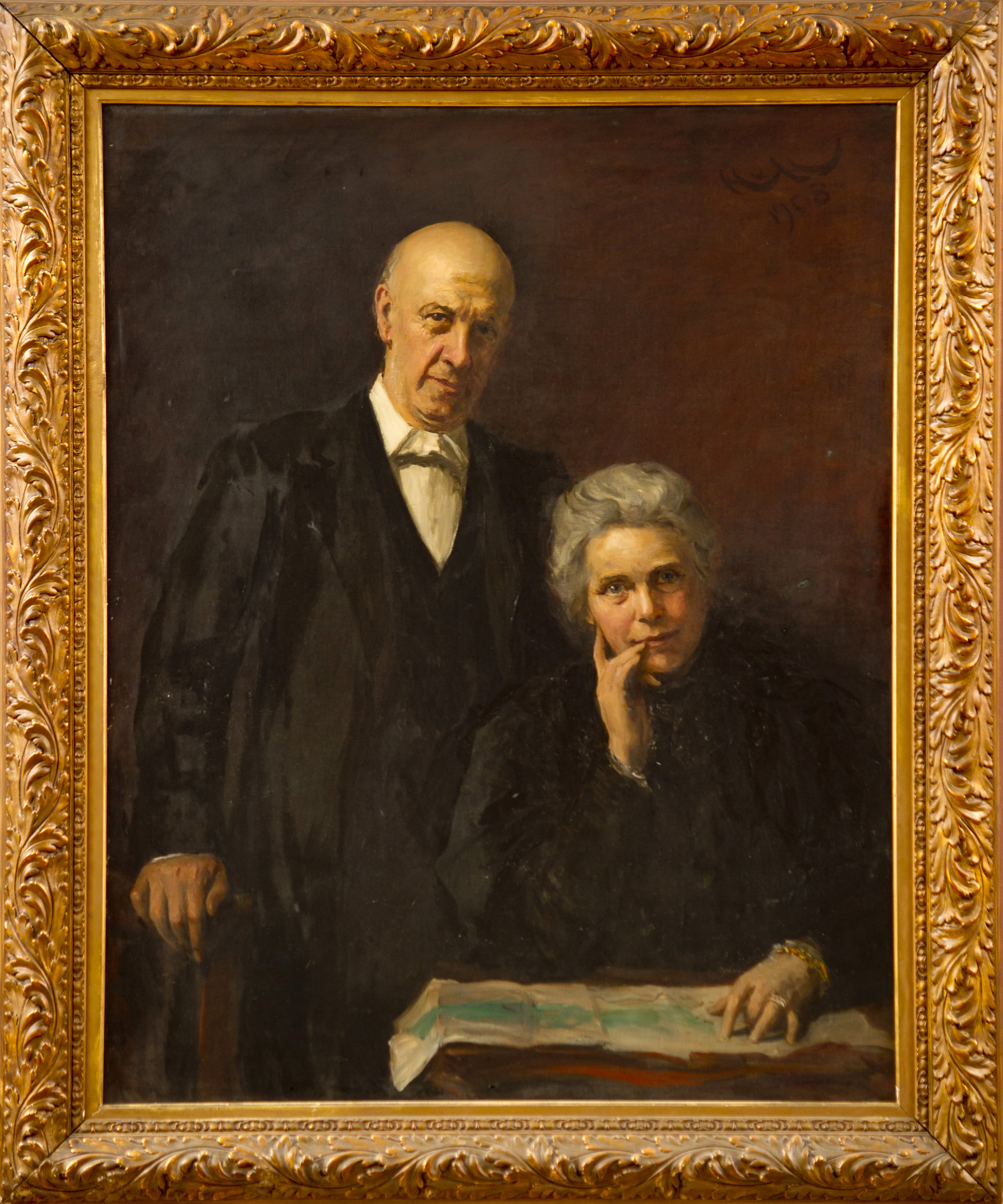 Portrait of Samuel and Henrietta Barnett.