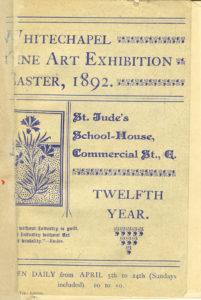 Cover of Fine Art Exhibition 1892 Catalogue