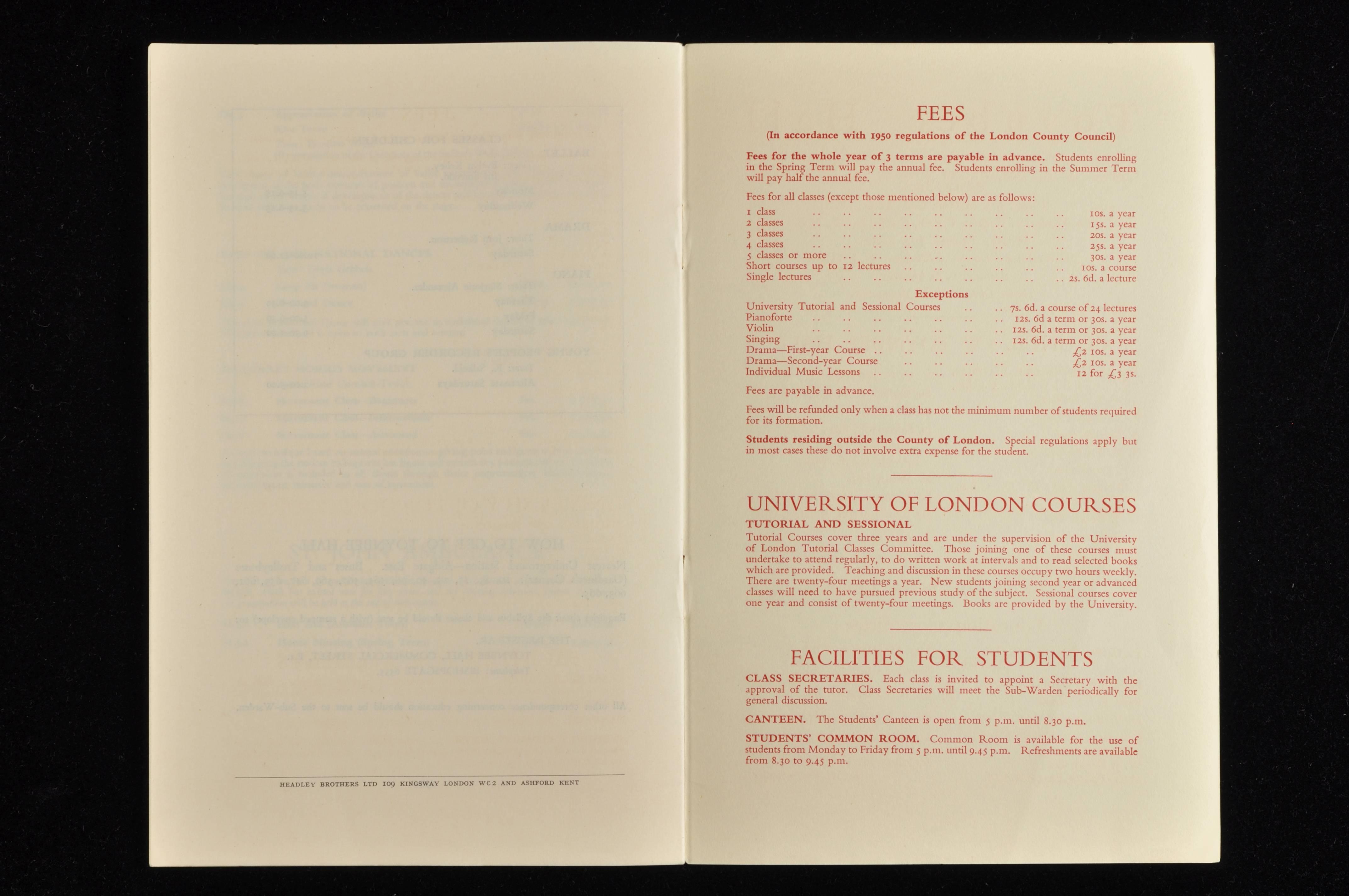 Syllabus Jan 1953 to Dec 1954 – Toynbee Hall